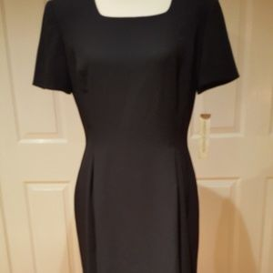 Classic knee-length black dress